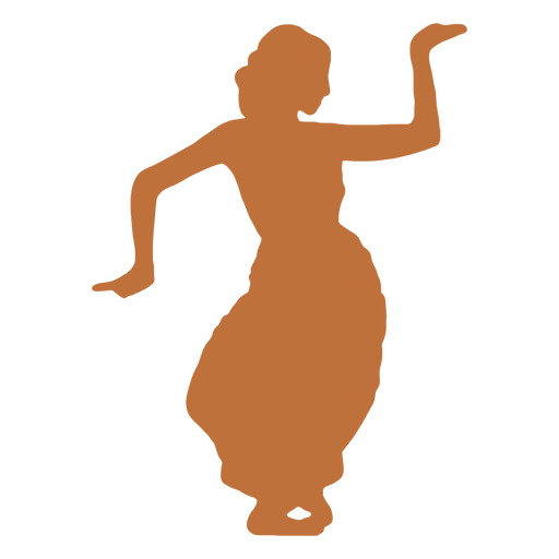Indian dancer danda rechita silhouette