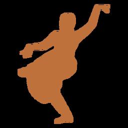 Bailarina india bhujanganchita silueta
