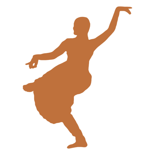 Indian dancer bhujanganchita silhouette Transparent PNG