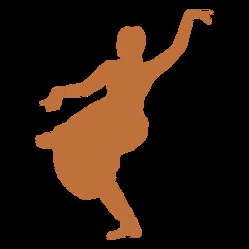 Indian dancer bhujanganchita silhouette