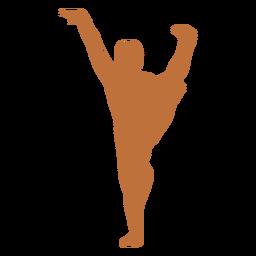 Bailarina india mano levantada silueta