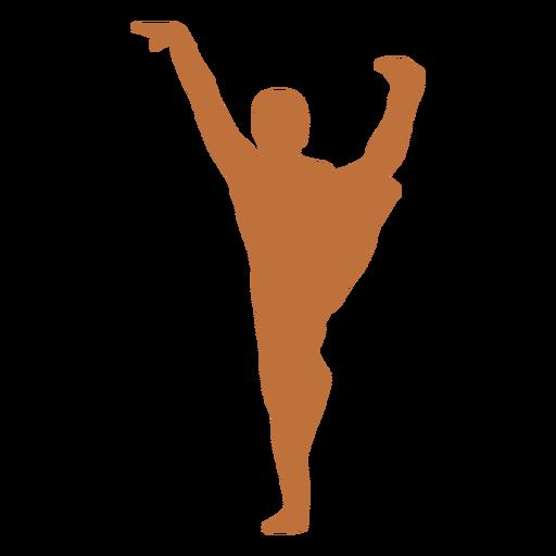 Indian dancer hand raised silhouette