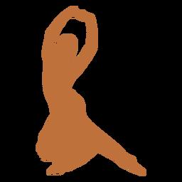 Dançarino indiano mãos levantadas silhueta harinapluta