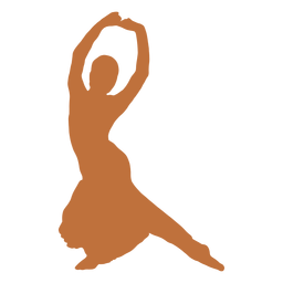 Indian dancer hands raised harinapluta silhouette