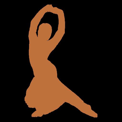 Indian dancer hands raised harinapluta silhouette