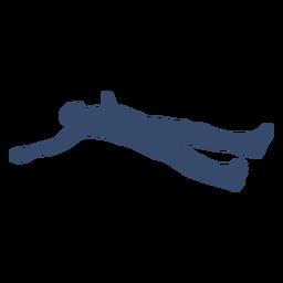 Deitado homem descansando silhueta