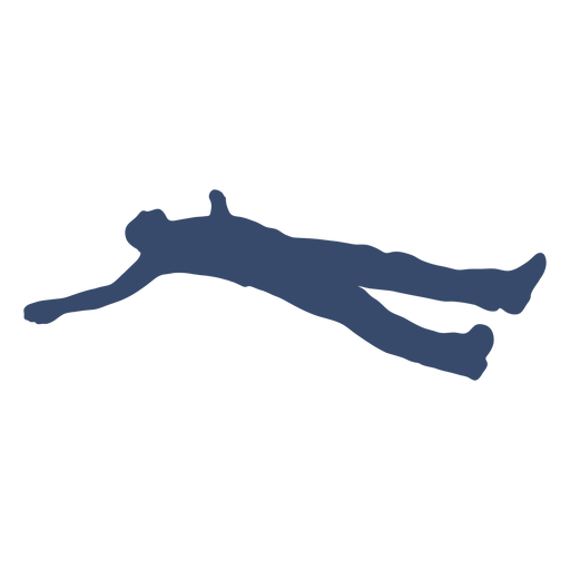 Laying man resting silhouette