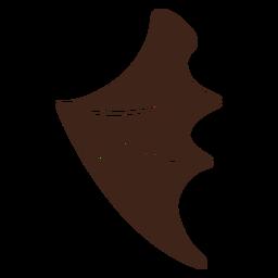 Pendientes de cuero bat alas planas