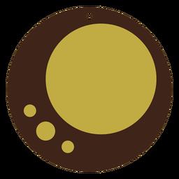 Pendientes de cuero círculo placa plana