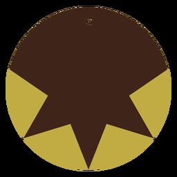 Pendientes piel círculo estrella plana