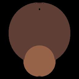 Leather earrings circular twin flat