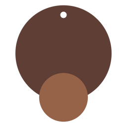Pendientes de cuero circulares gemelos planos