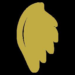 Aretes de cuero con alas de paloma planas