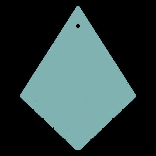 Leather earrings kite inverted flat