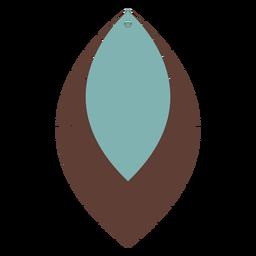 Leather earrings leaf flat