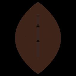 Leather earrings leaf brown flat
