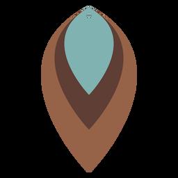 Pendientes de piel hoja tricolor planos