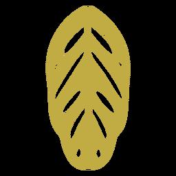Brincos de couro folha amarela plana