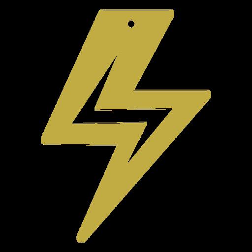 Leather earrings lightning flat
