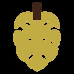 Pendientes de cuero hoja de palma amarilla plana
