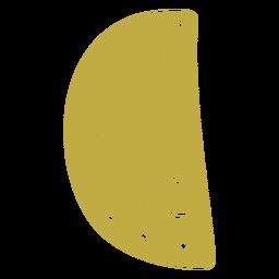 Pizza de brincos de couro meio plana