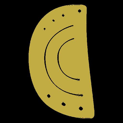 Pendientes de cuero pizza medio plano