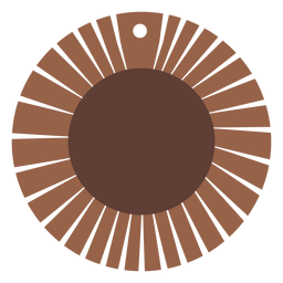 Leather earrings sun shaped flat