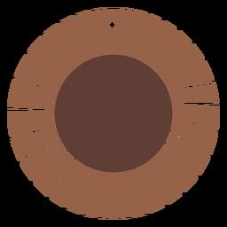 Pendientes de cuero planos en forma de sol