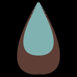 Pendientes piel lágrima bicolor planos