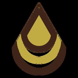 Pendiente de piel con lágrima bicolor plana
