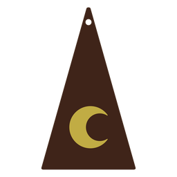 Leather earrings triangle moon flat