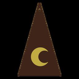 Pendientes piel triángulo luna plana