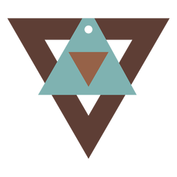 Pendientes de piel con triángulos tricolor planos
