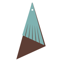 Leather earrings triangular flat