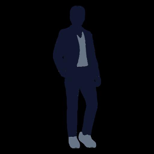 Men fashion standing hand in pocket