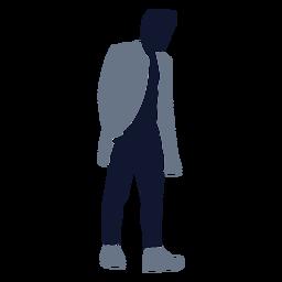 Moda masculina caminando de la mano en el bolsillo