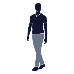 Moda masculina caminando a la izquierda