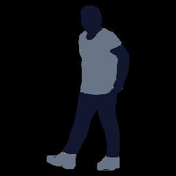 Moda masculina caminando hacia la izquierda