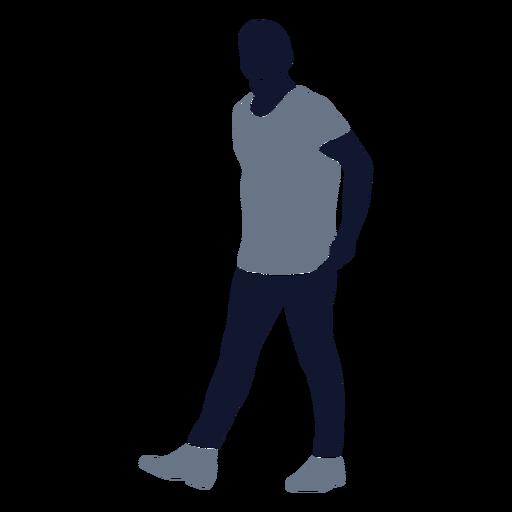 Men fashion walking left facing