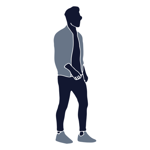 Men fashion walking right facing Transparent PNG