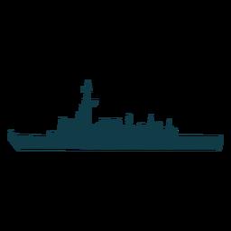Complejo de barcos navales a la izquierda