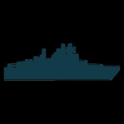 Nave naval simple orientada a la derecha