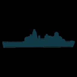 Naval ship simple right facing thin