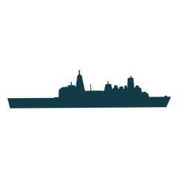 Nave naval simple a la derecha, delgada