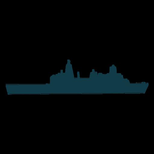 Buque naval simple a la derecha orientado hacia delgado