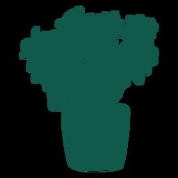 Planta compleja silueta