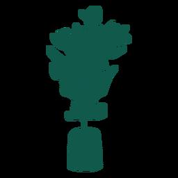 Planta silueta simple