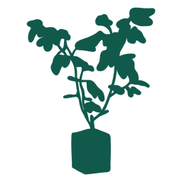 Pflanzen Sie einfache grüne Silhouette