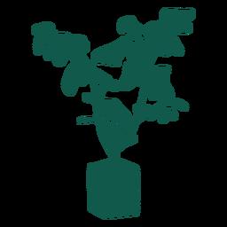 Planta simple silueta verde
