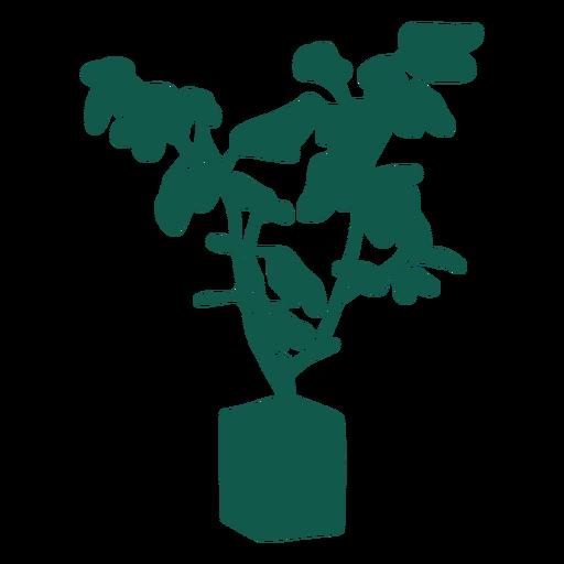 Planta simple silueta verde Transparent PNG